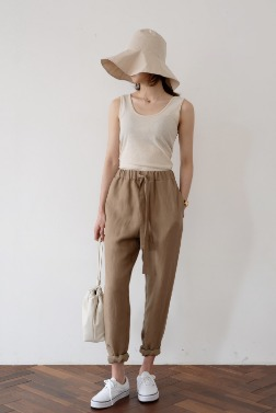 1420_Natural Baggy  Pants