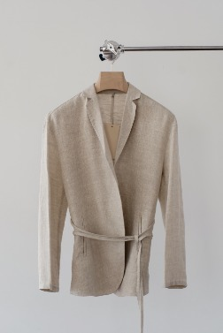 1397_Simple Linen Jacket  [ Pre_Order 10% DC ]