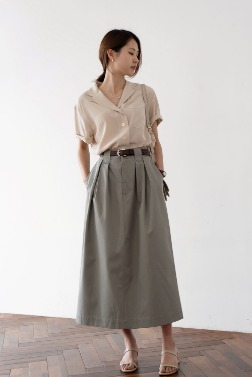 1832_High-rise Cotton Skirt [ Pre_Order 10% DC ]