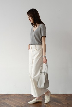 2137_High-Waist Wide Pants  [ Pre_Order 10% DC ]