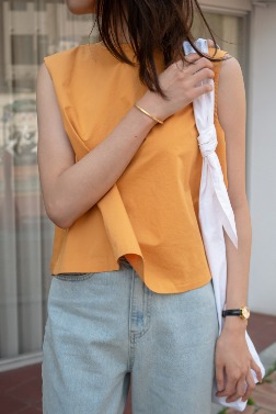 2055_A Line Sleeveless Top  [ Pre_Order 10% DC ]