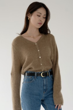 2785_Thin Alpaca Cardigan
