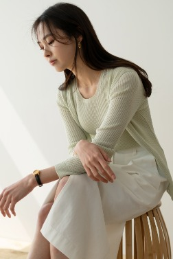 5584_Lip Color Cardigan