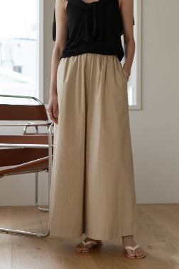 6621_Wide leg band pants
