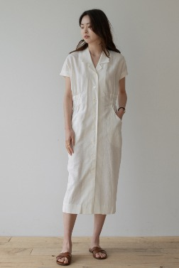 6739_June Linen Button Dress