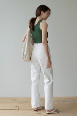6787_Pleat Sleeveless Slim Top