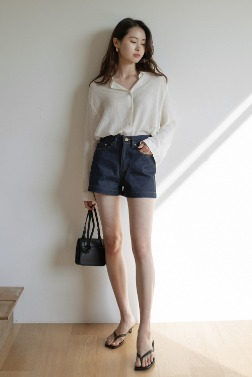 6875_Corn Twin Denim Shorts