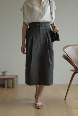 6979_Ever belt skirt