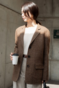 8164_Tweed Three Button Jacket