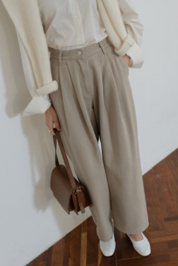 7999_Taupe denim pants