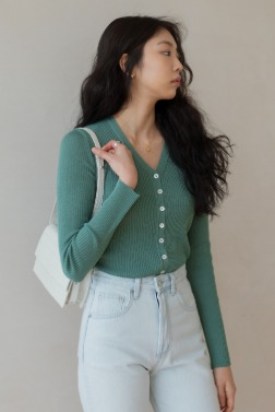 11361_RIBBED CARDIGAN