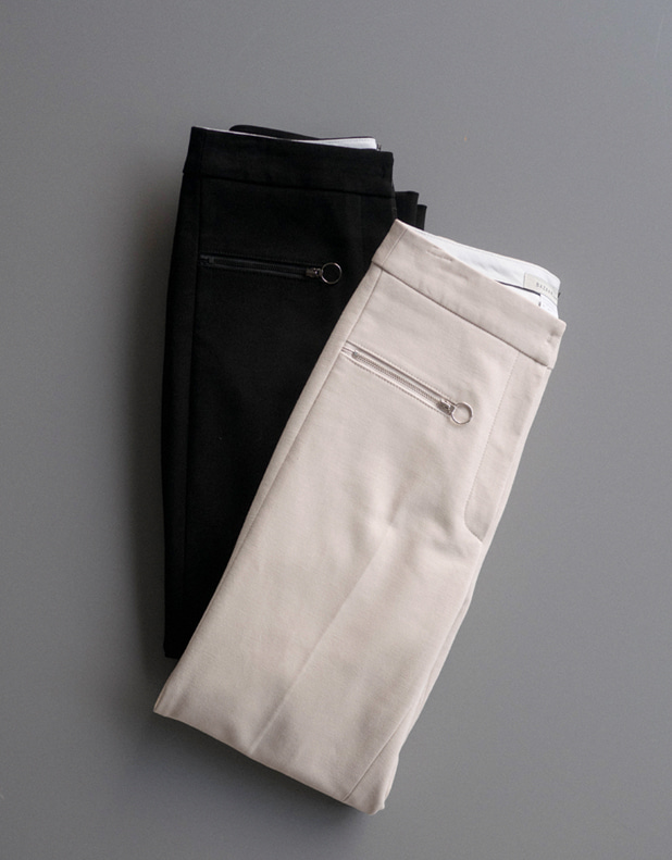zipper circle Trousers(한정 40% DC)