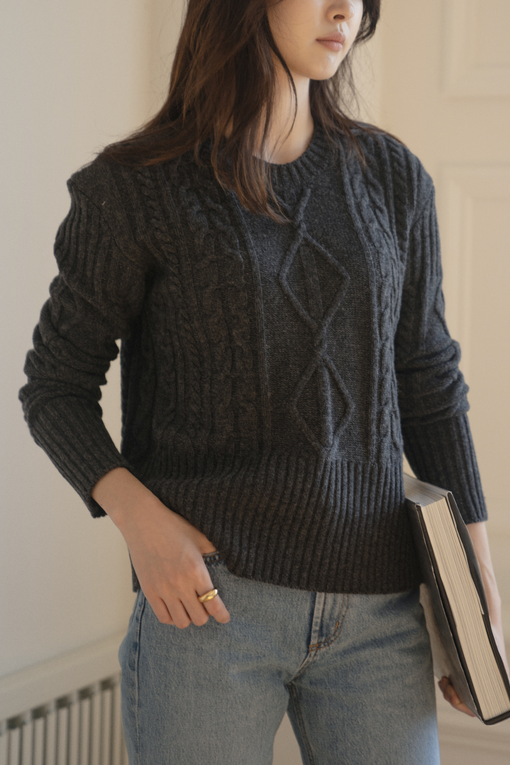 8599_Cable round knit [ New Season / 10% DC ] 28일 PM 6 마감