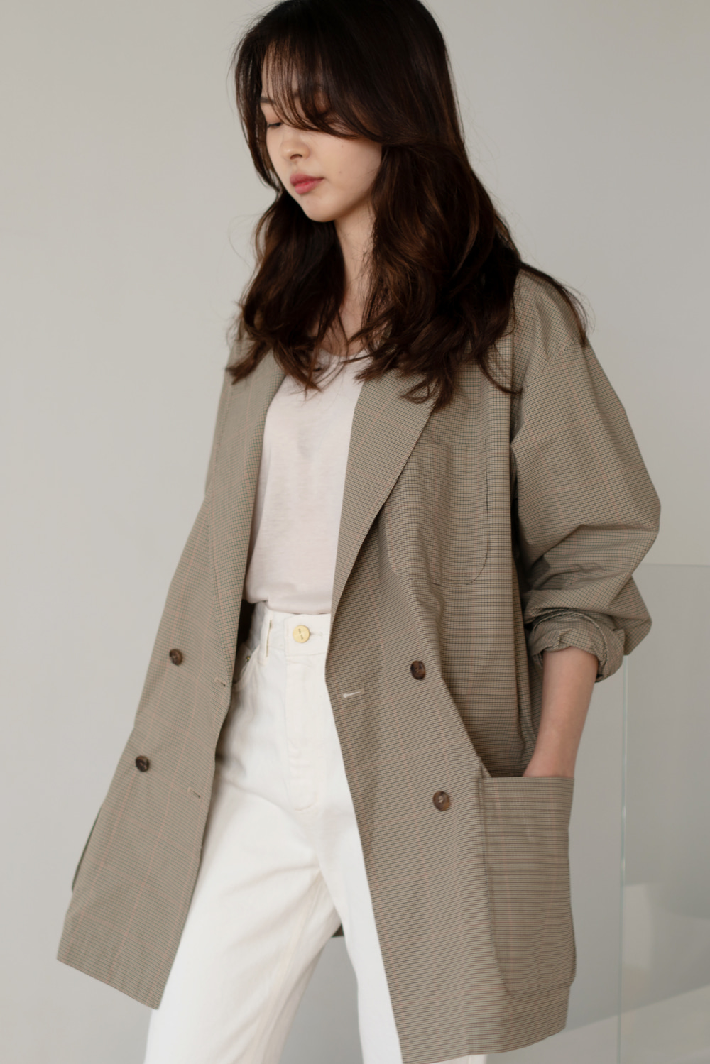 6570_Summer check jacket