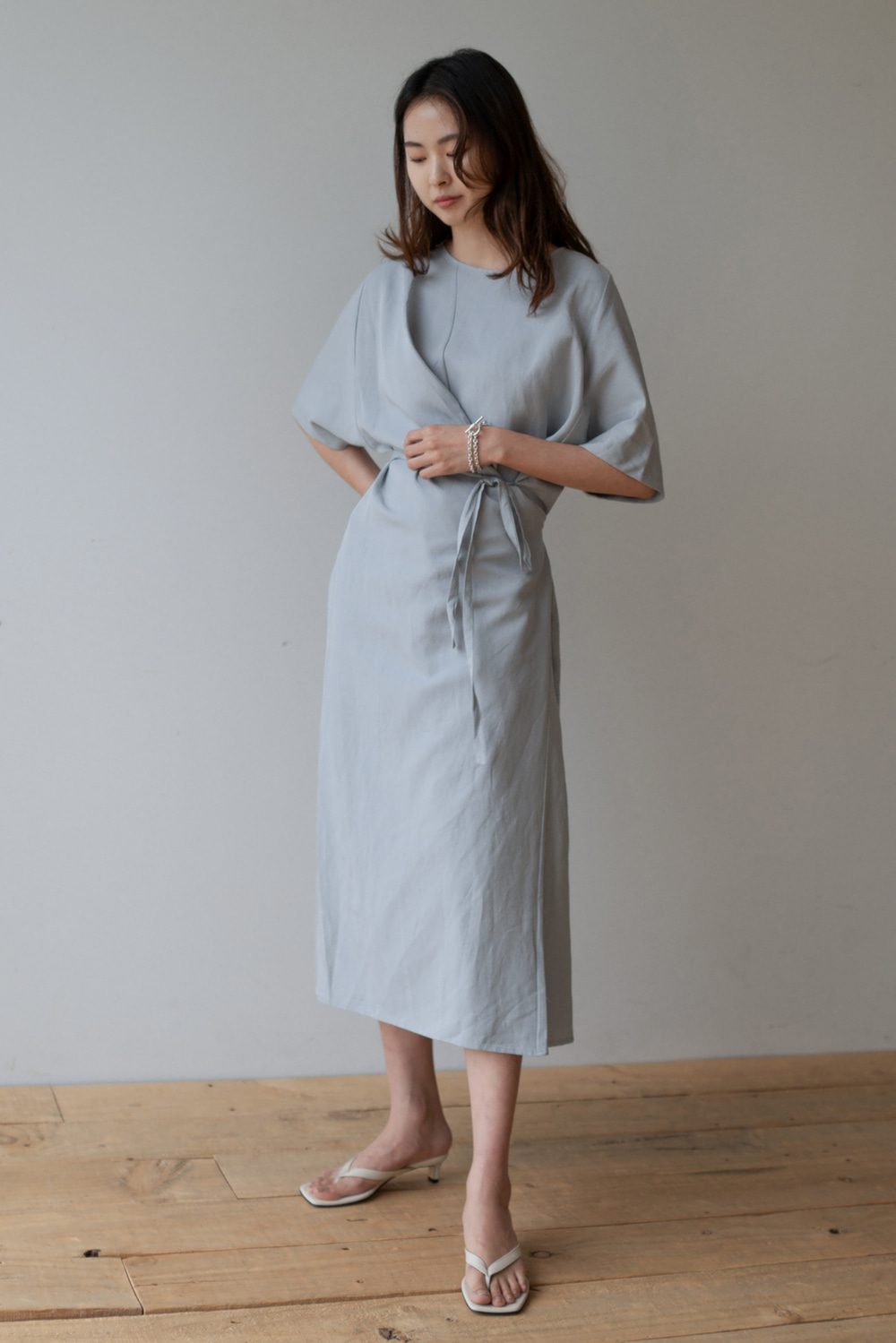 7064_Unbalance wrap dress