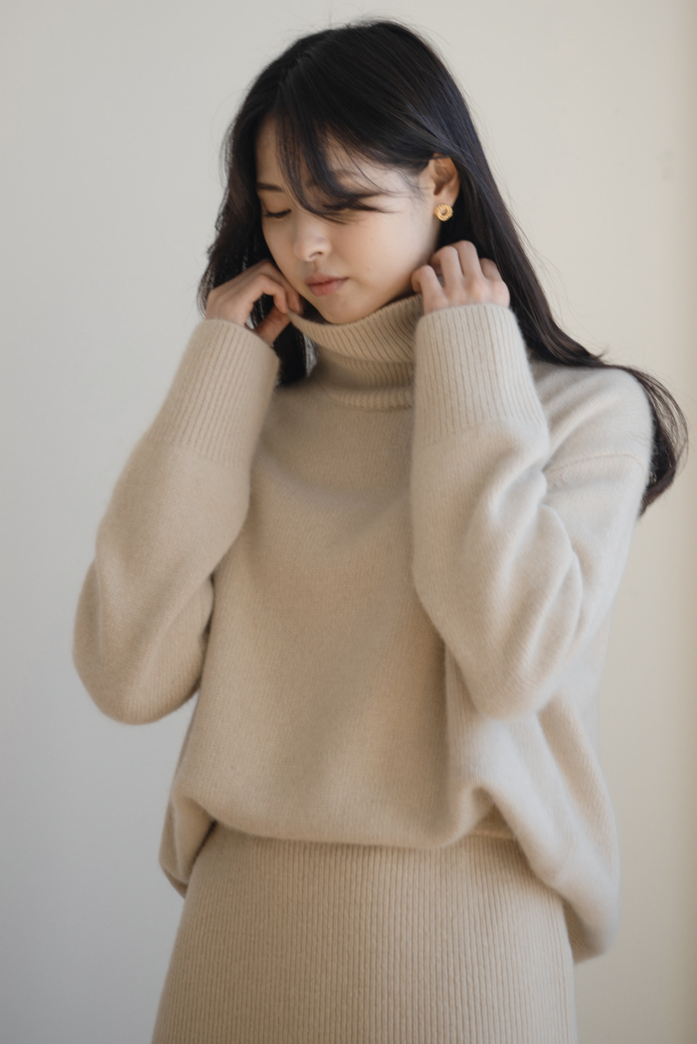 8504_Raccoon turtleneck knit  [ New Season / 10% DC ] 26일 PM 6 마감 / [ 주문일로부터 2주소요 ]